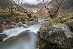 vanaf de Steall Falls (april)
